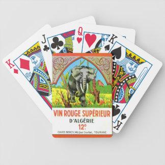 Vino argelino del vintage, colorete Superieur de V Baraja Cartas De Poker