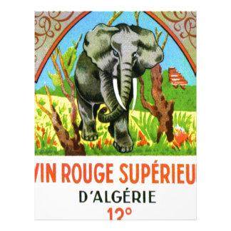 Vino argelino del vintage, colorete Superieur de V Membretes Personalizados