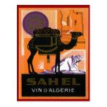 Vino argelino del vintage, Vin el Sahel, Algerie Postales