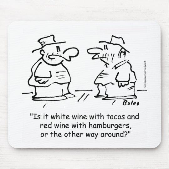 Vino blanco con el vino rojo del tacos con las ham alfombrilla de raton