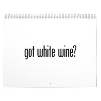vino blanco conseguido calendario de pared