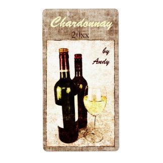 vino blanco del Viejo Mundo en una etiqueta de la  Etiquetas De Envío