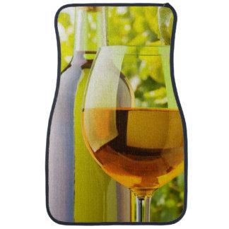 Vino blanco y uvas alfombrilla de coche