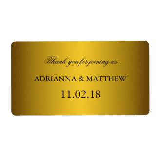 Vino clásico elegante Labels2 del boda del oro Etiquetas De Envío