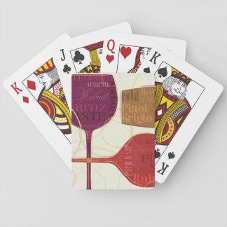 Vino colorido cartas de juego