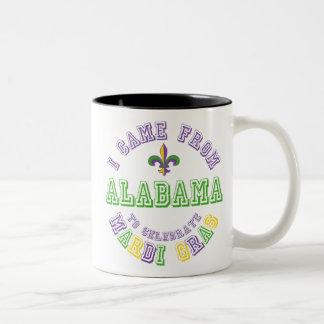 Vino de Alabama celebran los regalos de las Taza De Dos Tonos