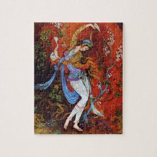 Vino de colada de pintura del chica persa del jarr rompecabeza