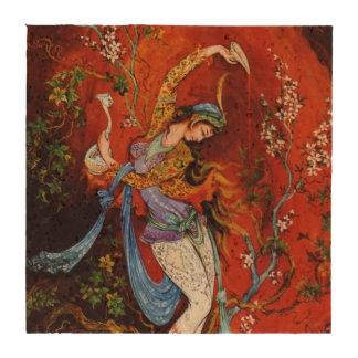 Vino de colada de pintura del chica persa del jarr posavasos