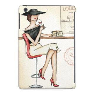 Vino de consumición de la mujer de moda funda para iPad mini retina