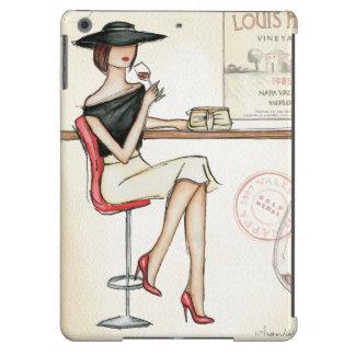 Vino de consumición de la mujer de moda funda para iPad air