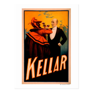 Vino de consumición del mago de Kellar con el Tarjetas Postales