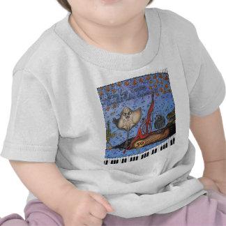 Vino de consumición dos de los pescados camisetas