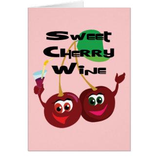 Vino de la cereza dulce felicitación