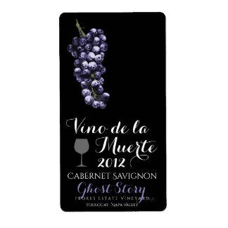 vino de la muerte wine label
