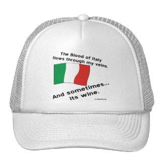 Vino de la sangre de Italia Gorras