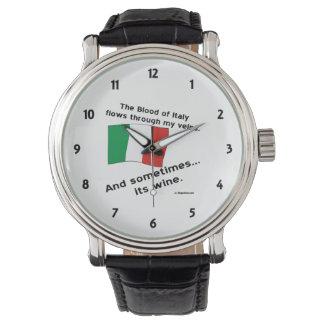 Vino de la sangre de Italia Reloj De Mano