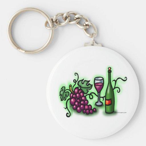 Vino de las uvas n llavero personalizado