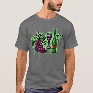 Vino de las uvas n playera