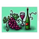 Vino de las uvas n tarjetón