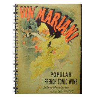 Vino de Mariani de la publicidad de poster fran Libro De Apuntes Con Espiral