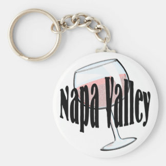 Vino de Napa Valley Llavero Redondo Tipo Pin