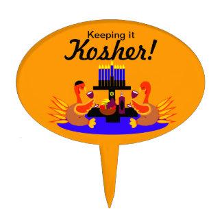 Vino de Thanksgivukkah que tuesta imagen de la tor Decoraciones Para Tartas