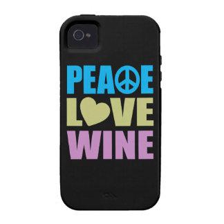 Vino del amor de la paz iPhone 4/4S funda