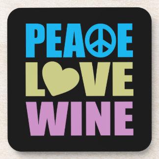 Vino del amor de la paz posavasos