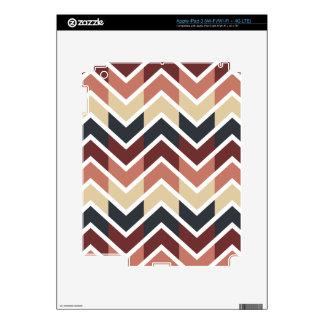 Vino del color de los diseños geométricos, trullo, iPad 3 skins