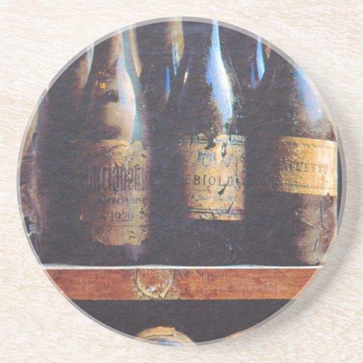 Vino del vintage posavasos personalizados