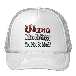 Vino feliz gorras de camionero