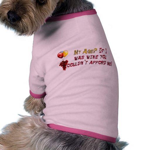Vino fino camiseta con mangas para perro