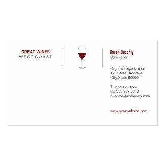 Vino (formato de la rejilla) tarjetas de visita