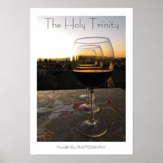 ¡Vino fresco el poster de la trinidad santa!