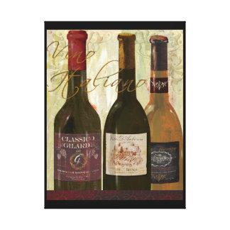 Vino Italiano Art Canvas Canvas Print