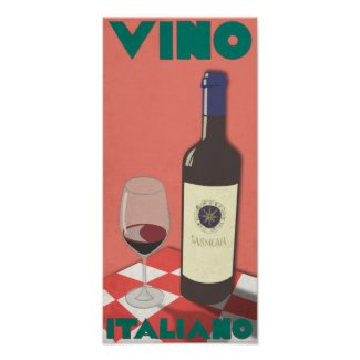 Vino Italiano Poster