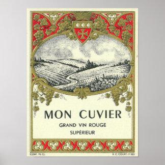 Vino LabelEurope de lunes Cuvier Poster