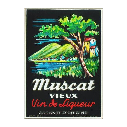 Vino LabelEurope de Muscat Vieux Impresión De Lienzo