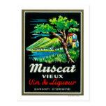 Vino LabelEurope de Muscat Vieux Tarjetas Postales
