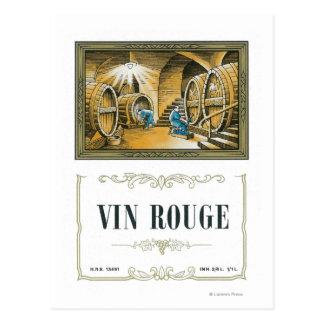 Vino LabelEurope del colorete de Vin Postales