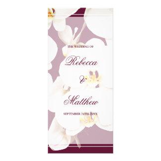 Vino marrón y programa blanco del boda de la lona publicitaria