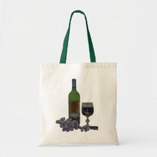 vino moderno y bolso digital del arte de las uvas bolsa tela barata