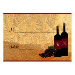 Vino Placecard Plantilla De Tarjeta De Visita