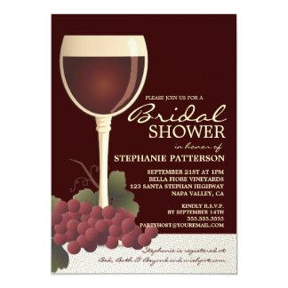 Vino precioso y invitación nupcial de la ducha de invitación 12,7 x 17,8 cm