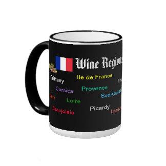 Vino Regions* de la taza de Francia