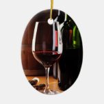 Vino rojo adorno para reyes