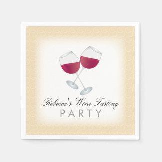 Vino rojo, fiesta personalizado de la degustación servilleta desechable