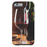 Vino rojo funda de iPhone 6 tough