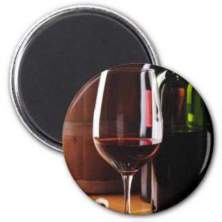Vino rojo imán redondo 5 cm