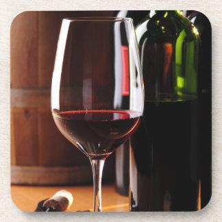 Vino rojo posavasos de bebida